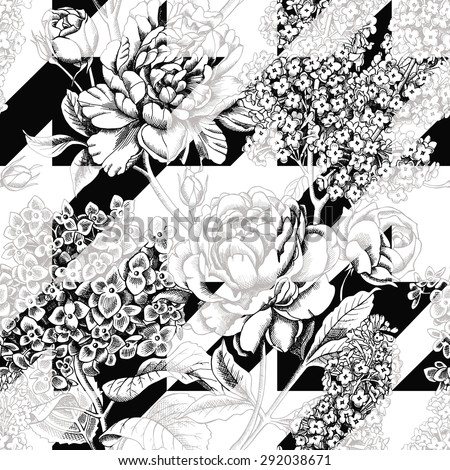 seamless multilayer floral