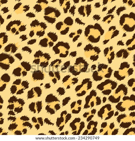 seamless natural color leopard