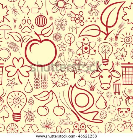Seamless Nature Wallpaper #46621238