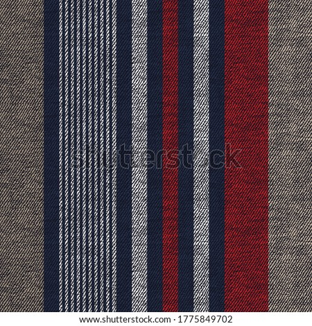 seamless nay and red  stripes pattern on textures Stockfoto ©