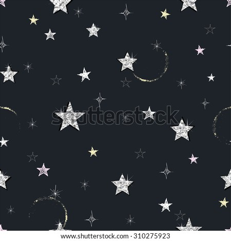 seamless night background with