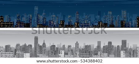seamless night city wide