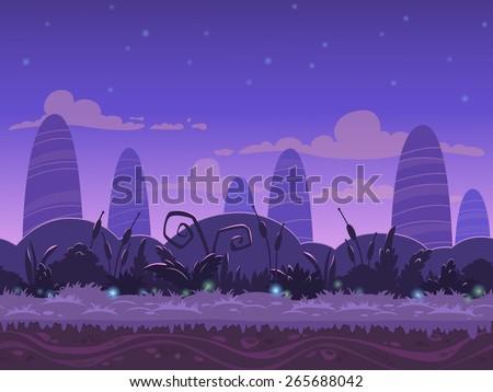 seamless night landscape  never