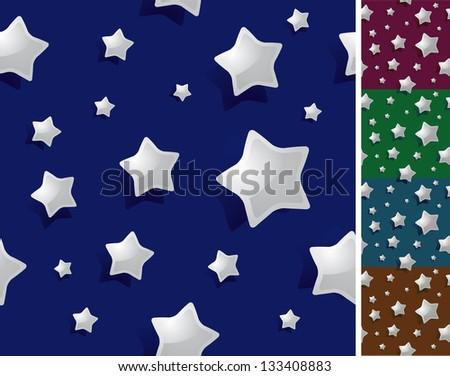 Seamless night / stars background wallpaper