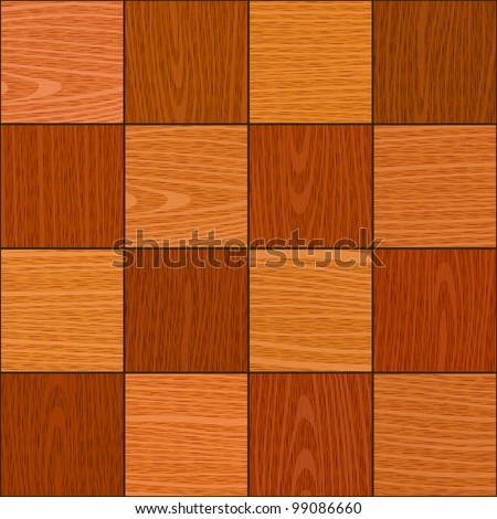 seamless oak square chess like parquet texture - stock vector