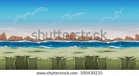 seamless ocean landscape for
