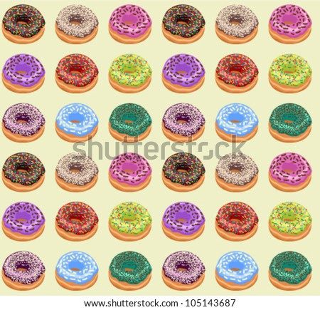 Seamless of Donuts