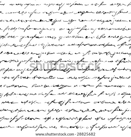 Seamless of handwritten text