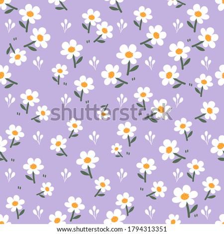 seamless of little white flower