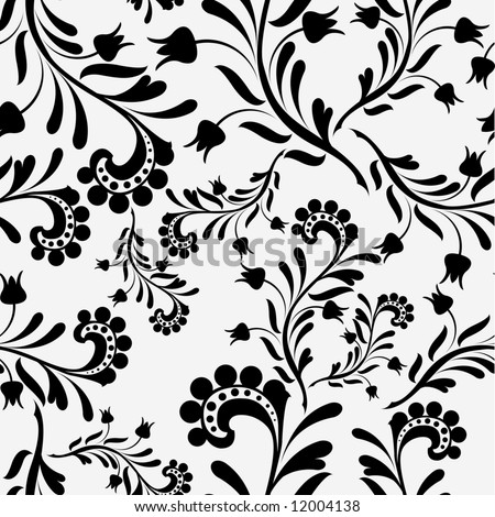 seamless old fashion wallpaper 01 - stock vector