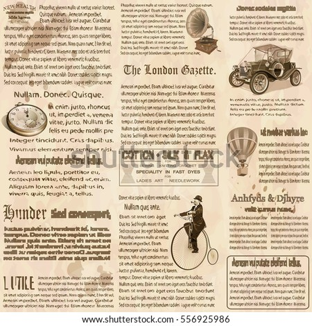 seamless old newspaper british...