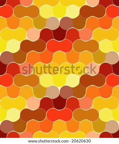 Seamless orange bulb pattern