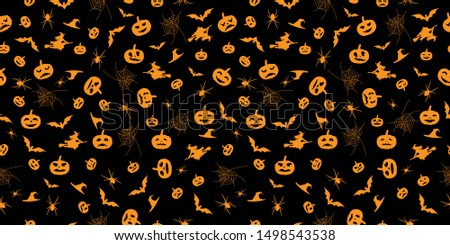 seamless orange halloween