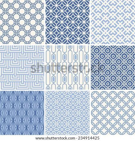 seamless oriental geometric