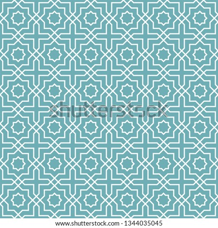 Seamless oriental pattern. Islamic background. Arabic linear texture. Vector illustration