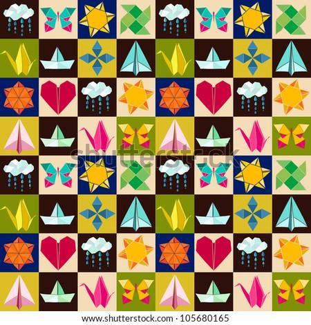 Seamless origami pattern.