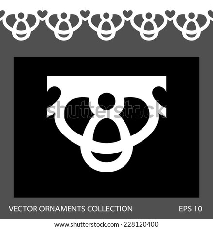 Seamless ornament border pattern. Vector ornament collection
