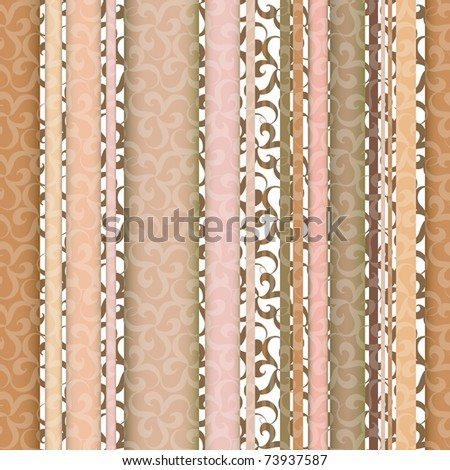 Seamless ornament pattern with vertical line elements