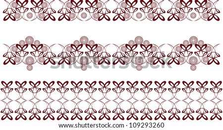 Seamless ornament vector pattern repeated many times