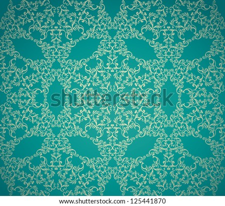 Seamless  ornamental abstract floral wallpaper