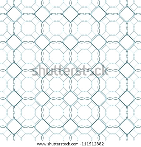 Seamless ornamental abstract pattern in blue color - stock vector