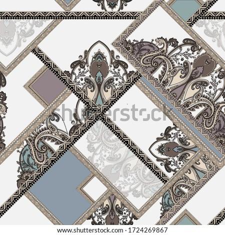 seamless ornamental paisley abstract pattern. seamless paisley background