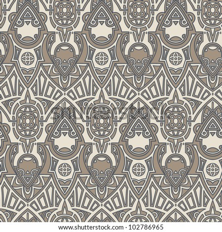 Seamless ornate pattern. Texture can be used for textile, backgrounds for websites, packaging. - stock vector