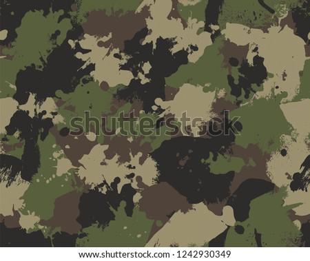 Seamless Paint Splattered Camouflage