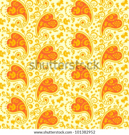 Seamless paisley pattern ( for high res JPEG or TIFF see image 101382949 )