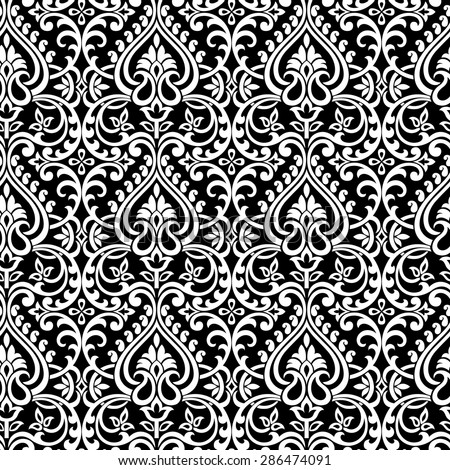 Black And White Paisley Background