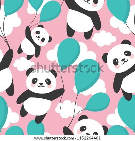 colorful panda download free vector art stock graphics images