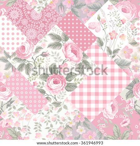 seamless patchwork floral
