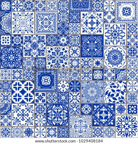 seamless patchwork tile with