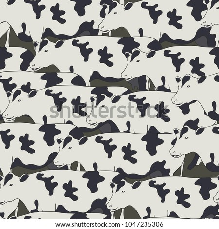 seamless pattern all cows