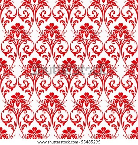 Stock vector seamless pattern and decorative frame pattern is included