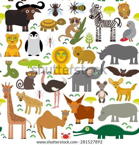 seamless pattern animal africa