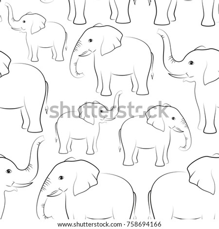 seamless pattern  animals