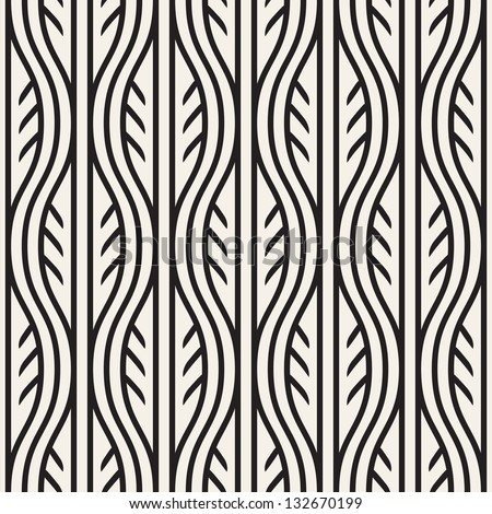 Seamless pattern. Antique ornament. Geometric stylish background. Vector repeating texture