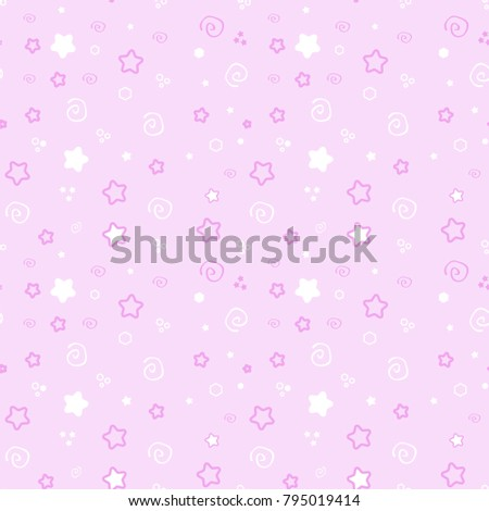 stock-vector-seamless-pattern-baby-set-on-pink-background-cute-illustration-of-a-delicate-princess-soft-color
