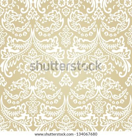 Seamless pattern background.Damask wallpaper. Vector illustration