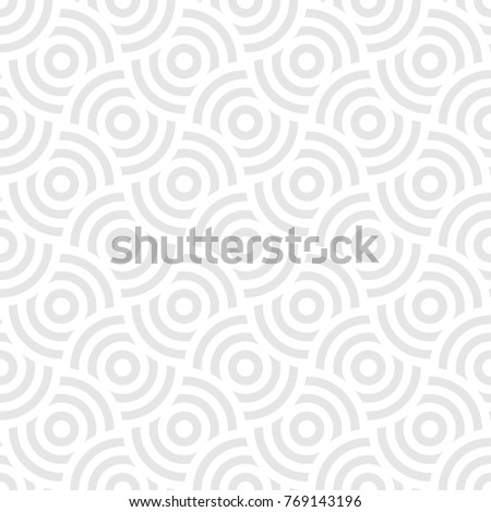 stock-vector-seamless-pattern-background-ornament-of-striped-concentric-circles-retro-mosaic-of-arches-in-grey