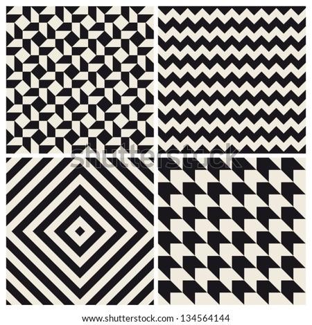 seamless pattern background set