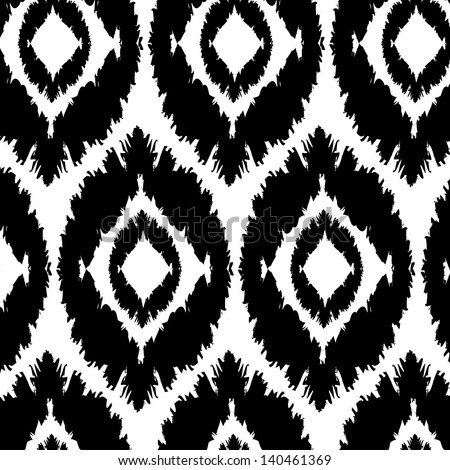 seamless pattern background, strokes, black and white, oval shapes