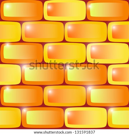 seamless pattern background wall color, yellow and orange stone vector