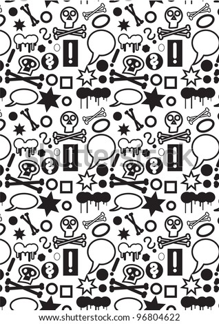 Seamless pattern background with a lot of small icons.