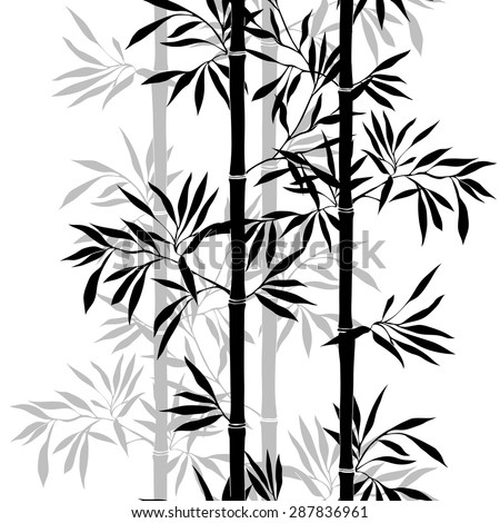 seamless pattern bamboo leaf