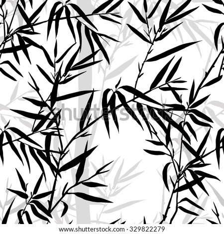 seamless pattern bamboo leaf