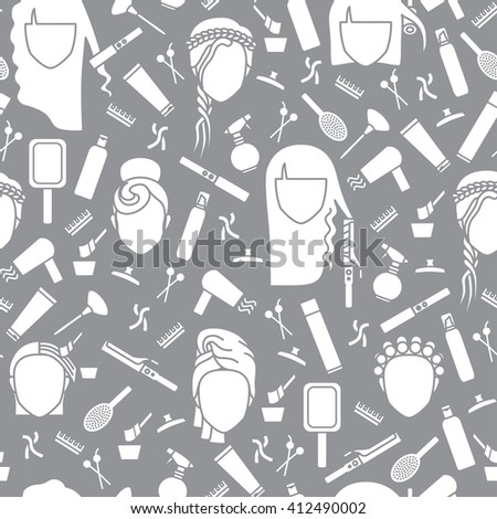seamless pattern barbershop