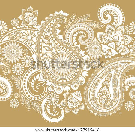 Brown And White Paisley Background - Download Free Vector Art, Stock ...