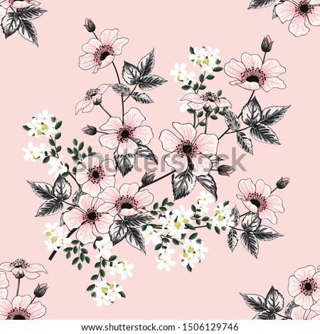 seamless pattern beautiful pink